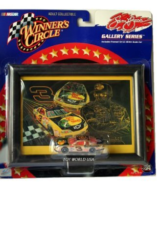 (Winner's Circle Sam Bass Gallery Series Dale Earnhardt 1/64th Scale #3 Gold Car and Framed Art)