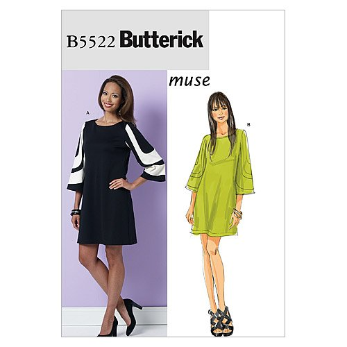 Buy bell sleeve dress sewing pattern - 7