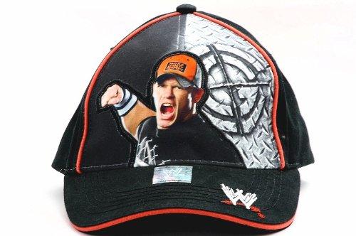 WWE Wrestling John Cena Wrestler Adjustable Black Boys Baseball -