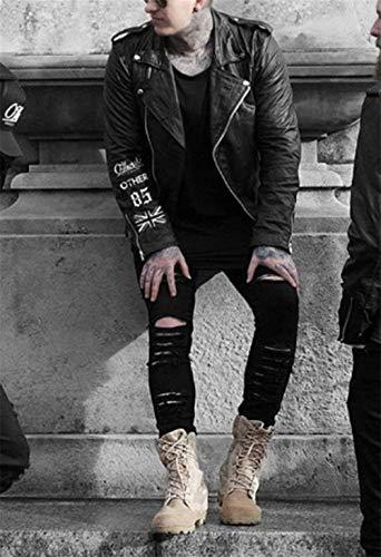 Sfilacciato Jeans Uomo Leisure Sfilati Da Four Fit Di Nne Slim Nero Skinny Giovane Seasons Tliche Per Strappato rqRFrz