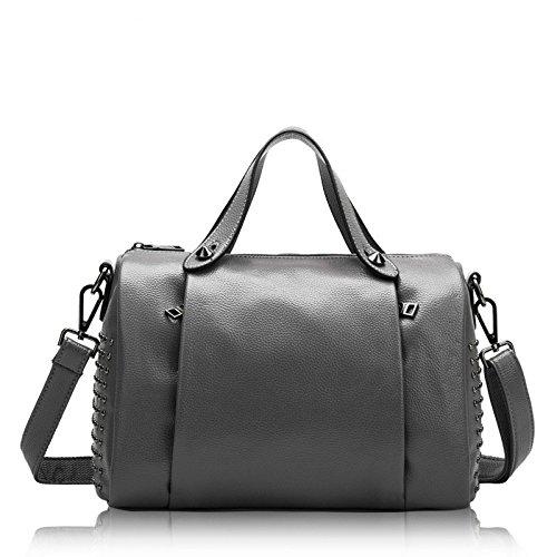 Grey Women's Bag Leather Single Shoulder Handbag