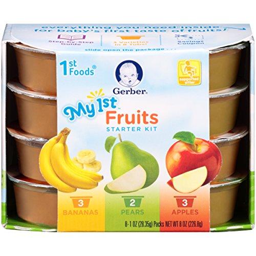 Gerber Purees My 1st Foods Starter Kit, 1 oz, 8 ct