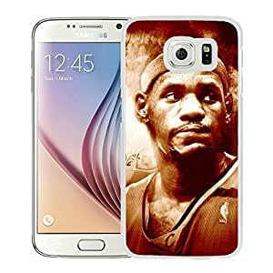 New Custom Design Cover Case For Samsung Galaxy S6 Cleveland Cavaliers Lebron James 13 White Phone Case