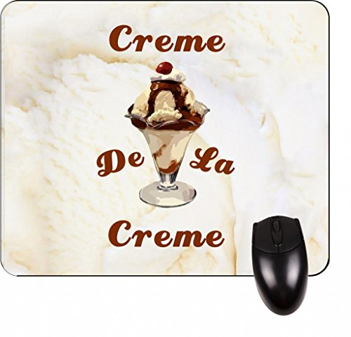 (Crème De La Creme- Square Mousepad-Great Office Accessory and Gift Made in the U.S.A.)
