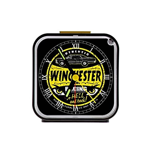 G-Store Sam Dean Winchester Supernatural to Hell and Back Alarm Clock Gift Home Decorative for Room Black (Supernatural Battery)