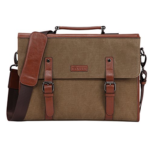 - Banuce 13.3 inch Laptop Messenger Bag for Men Vintage Canvas Briefcase Tote Tablet Satchel Shoulder Bag