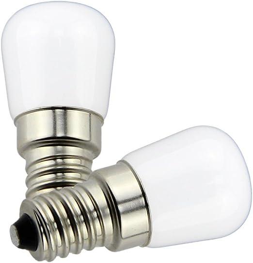 Poeland 1.5W LED Refrigerador y Congelador bombillas E14 Luz en la ...