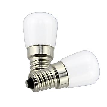Poeland 1.5W LED Refrigerador y Congelador bombillas E14 Luz en la Base Pack de 2 Blanco Cálido: Amazon.es: Hogar