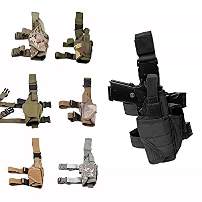 Cisno Drop Leg Adjustable Right Handed Tactical Thigh Pistol Gun Holster