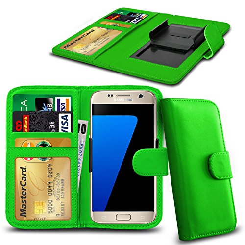 N4U Online® iPhone d'Apple 6s plus PU cuir clip Cover Wallet Case Avec carte de crédit, Notes & ID Slots - Vert