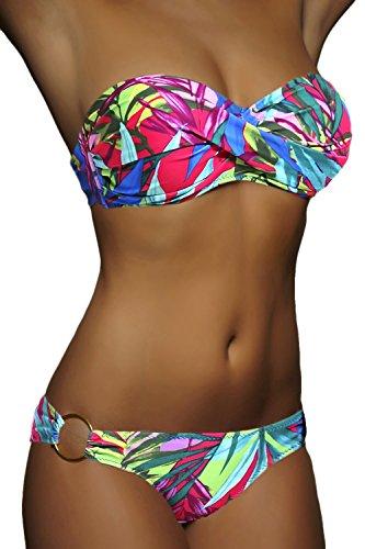 Up Bain Maillot Alzora M15 Set Femme Twist 10482 Push Colorés Bandeau De Bikini Push up qcSfHEcz