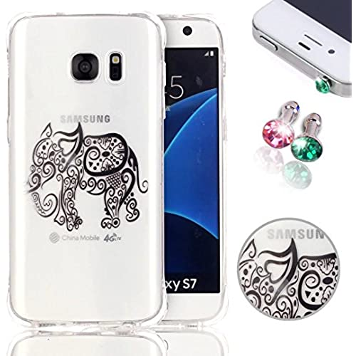 Galaxy S7 Case, S7 Case Pershoo Ultra Thin Soft TPU Shock-Absorbing Cover, Colorful Elephant Pattern Anti Scratch Sales