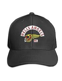 Hells Angels Motorcycle Club Hats Adjustable Black Baseball Cap