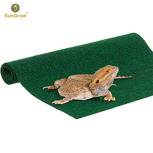(Reptile Mat - Chew-Safe and Paw-Friendly Reptile Bed - Climbing Carpet - Substrate Liner Safe for Tanks, Home, and Kitchen Use - Terrarium Bed for Snakes, Chameleons, Geckos - Low Maintenance)
