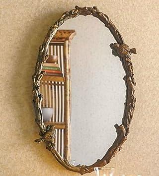 Baxton Studio Doniea Dark Brown Wood Frame Modern Mirror, Rectangle
