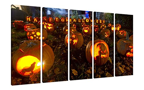 Wind   orange pumpkins Halloween holiday wall decor - Spooky wall art
