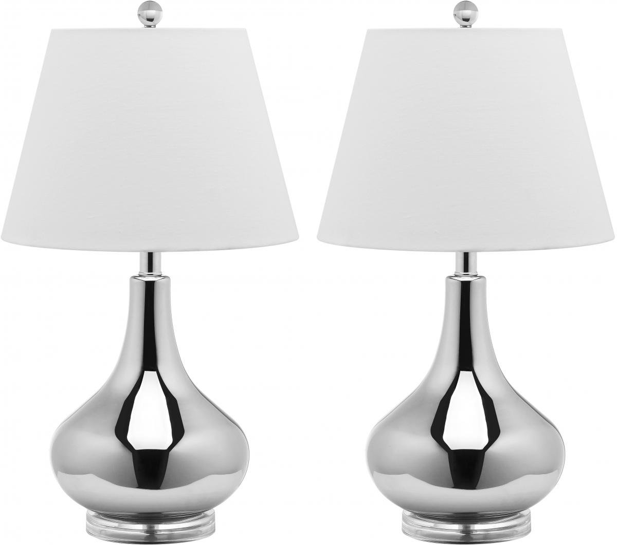 Set Of Two Table Lamps Amazoncom Safavieh Lighting Collection Amy Gourd Glass Table