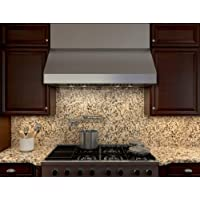 Zephyr AK7554B 650 CFM 54 Inch Wide Under Cabinet Range Hood from the Tempest II, Stainless Steel