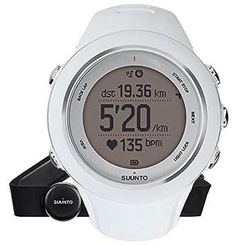 Suunto - Ambit3 Sport HR - SS020680000 - Reloj GPS Multideporte + Cinturón de frecuencia cardiaca (Talla M) - Sumergible 50 m - Blanco