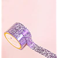Roses Purple Foil Washi Tape for Planning • Scrapbooking • Arts Crafts • Office • Party Supplies • Gift Wrapping • Colorful Decorative • Masking Tapes • DIY