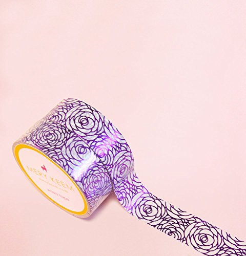 Roses in Purple Foil Washi Tape for Planning • Scrapbooking • Arts Crafts • Office • Party Supplies • Gift Wrapping • Colorful Decorative • Masking Ta…