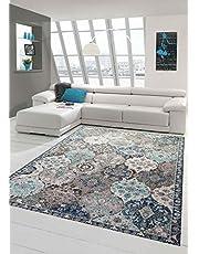 Teppich-Traum Oosterse tapijt outdoor woonkamertapijt ornamenten in grijs blauw