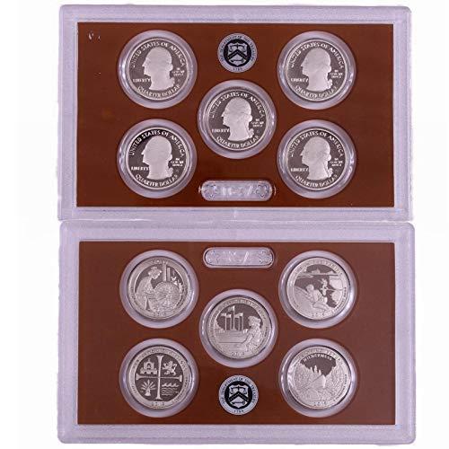Us Mint Clad - 2019 S Proof National Parks Quarter Set No Box or COA 5 Coins CN-Clad US Mint Gem Deep Cameo