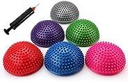 Fasmov Balance Pods Balancing Hedgehog Stability Balance Trainer Dots with Pump, Set of 6