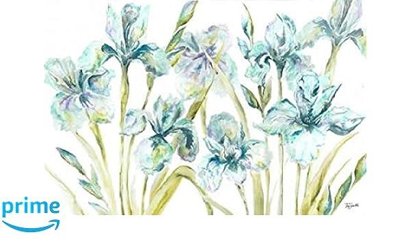 24 x 36 Watercolor Iris Landscape Poster Print by Tre Sorelle Studios
