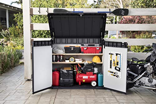 Keter-Store-It-Out-Premier-XL-Outdoor-Plastic-Garden-Storage-Shed-Grey-and-Black-141-x-82-x-1235-cm