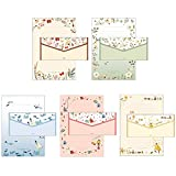 20 Pcs Lovely Cute Special Design Lined Writing Stationery Paper with 10 Envelope, Perfect for Letter Writing, 8 Different Style (Forest Style)