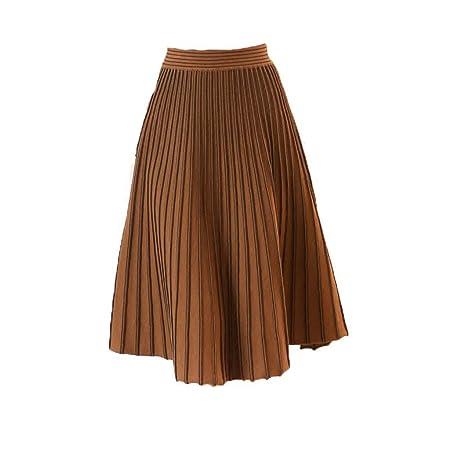 Faldas de las señoras de la cintura elástica Otoño Invierno Falda ...