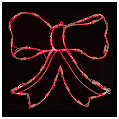 Lighted Bow Christmas Window Silhouette - Lighted Bow