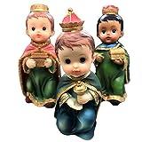 Turtle King Three Kings Figurines 5'' Resin Window Box Set of 3