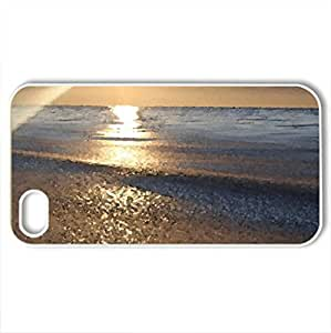 amazing beach sunrise - Case Cover for iPhone 4 and 4s (Beaches Series, Watercolor style, White)