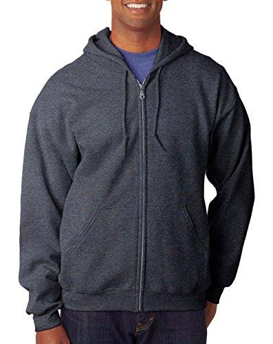 Gildan mens Heavy Blend 8 oz. 50/50 Full-Zip Hood(G186)-DARK HEATHER-XL