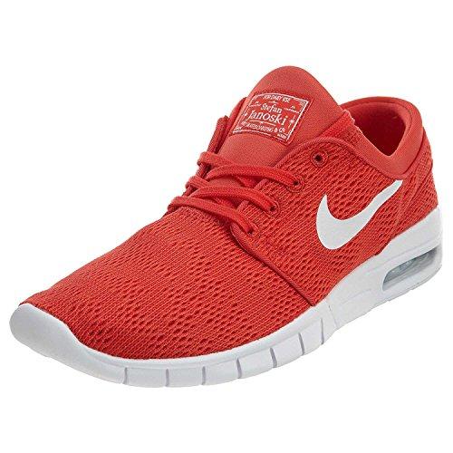 Nike Stefan Janoski Max Mens Sneakers, Track Red/White, 41 D(M) EU/7 D(M) UK