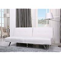 Gold Sparrow Victorville Foldable Futon Sofa Bed, White