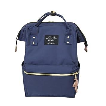 jintime Living Travel Share Mochila unisex de color sólido mochila escolar bolsa de viaje, B: Amazon.es: Deportes y aire libre
