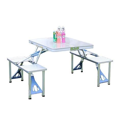 Amazon.com: Juego de sillas de mesa de picnic plegables y ...
