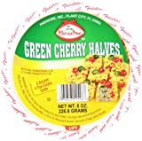 Paradise Cherry Halves, Green, 8 Ounce
