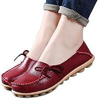 Las mujeres Pisos cut-outs cómodo Casual zapatos ronda toe Loafers Moccasins Wild transpirable zapatos de conducción