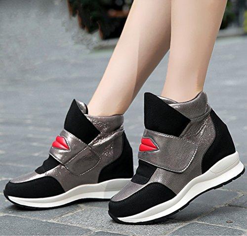 de mode voyage sneakers Basket moderne femme loisir élégant compensé chaussure haute qXxwPfO
