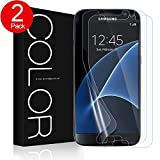 G-Color Galaxy S7 Screen Protector, [Full Coverage][TPU Film][Case Friendly][Error Proof][Bubble-Free][Anti-Scratch] Wet Applied Screen Protector for Samsung Galaxy S7 (2 Pack)