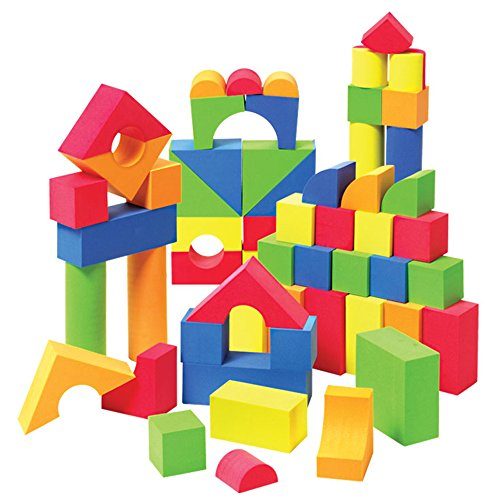 Liberty Imports Creative Educational EVA Foam Building Blocks | Ideal Construction Toys for for Girls, Boys, Toddlers - 131 Pcs - Foam Building Blocks Kids