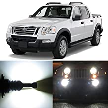Alla Lighting 2pcs Super Bright 9145 White LED Bulbs Front Fog Light Replacement for 2001~2005 Ford Explorer Sport Trac