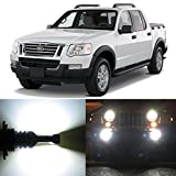 Alla Lighting 2pcs Super Bright 9145 White LED Bulbs Front Fog Light Lamps Replacement for 2001~2007 Ford Explorer Sport Trac and 2008~2010 Explor Sport Trac without Adrenalin Package