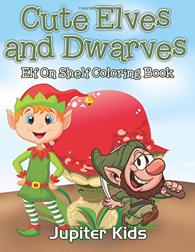 Cute Elves Dwarves Shelf Coloring