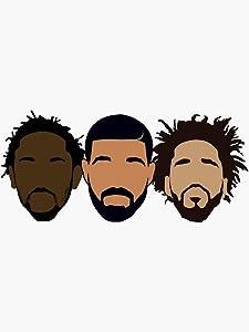 Drake, J Cole, Kendrick Lamar Sticker - Sticker Graphic - Auto, Wall, Laptop, Cell, Truck Sticker for Windows, Cars, Trucks
