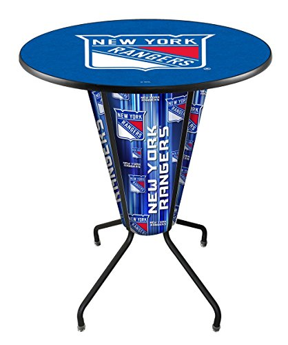 Lighted New York Rangers Pub Table